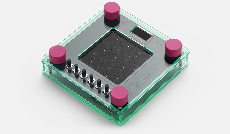 Open NSynth Super glass frame