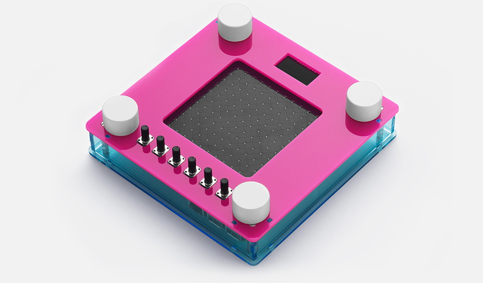 Open NSynth Super pink frame